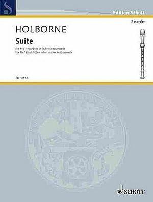 Suite : for 5 recorders (SAATB)score: Anthony Holborne