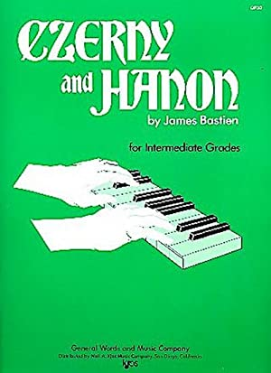 czerny and hanon for intermediate grades music through the piano intermediate grades by carl czerny charles louis hanon 1970 sheet music