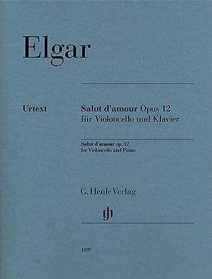 Salut d'amour op. 12 für Violoncello und: Edward Elgar