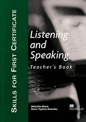 Skills for First Certificate Listening and Speaking.: Malcolm Mann