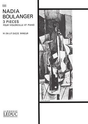 Pièce ut dieze mineur no.3 :pour violoncelle: Nadia Juliette Boulanger