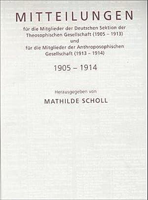Mitteilungen für die Mitglieder der Deutschen Sektion: Mathilde Scholl