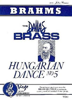 Hungarian Dance no.5 :for 2 trumpets, horn: Johannes Brahms
