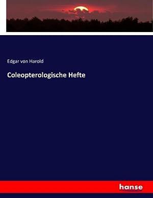 Coleopterologische Hefte: Edgar von Harold