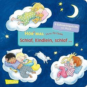 Poster f/ür Baby und Kind mit Schlaflied Lalelu la le lu rosa