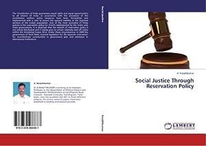 Social Justice Through Reservation Policy: A. Ranjithkumar