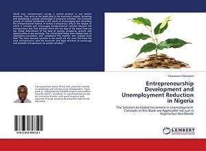 Entrepreneurship Development and Unemployment Reduction in Nigeria: Oluwaseun Olowokere