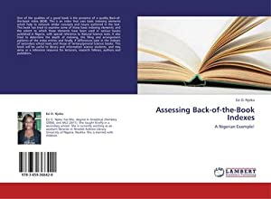 Assessing Back-of-the-Book Indexes : A Nigerian Example!: Ezi O. Njoku