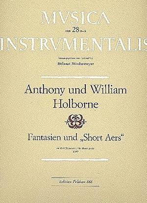 Fantasien und Short Aers : für Soprano,: Anthony Holborne