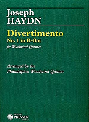 Divertimento b-flat no.1 :for woodwind quintet (flute,: Franz Joseph Haydn