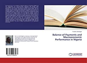 Balance of Payments and Macroeconomic Performance in Nigeria: Timilehin Aderibigbe