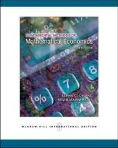 Fundamental Methods of Mathematical Economics: Alpha C. Chiang
