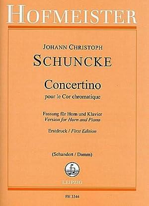 Concertino: Johann Christoph Schunke