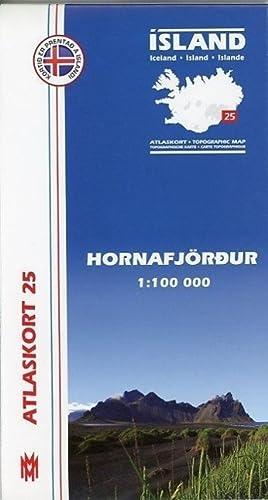 Island Atlaskort 25 Hornafjördur 1:100.000