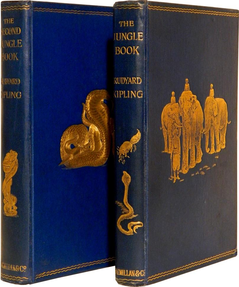 THE JUNGLE BOOK and THE SECOND JUNGLE BOOK. [Sold as a set.]: Kipling, Rudyard.