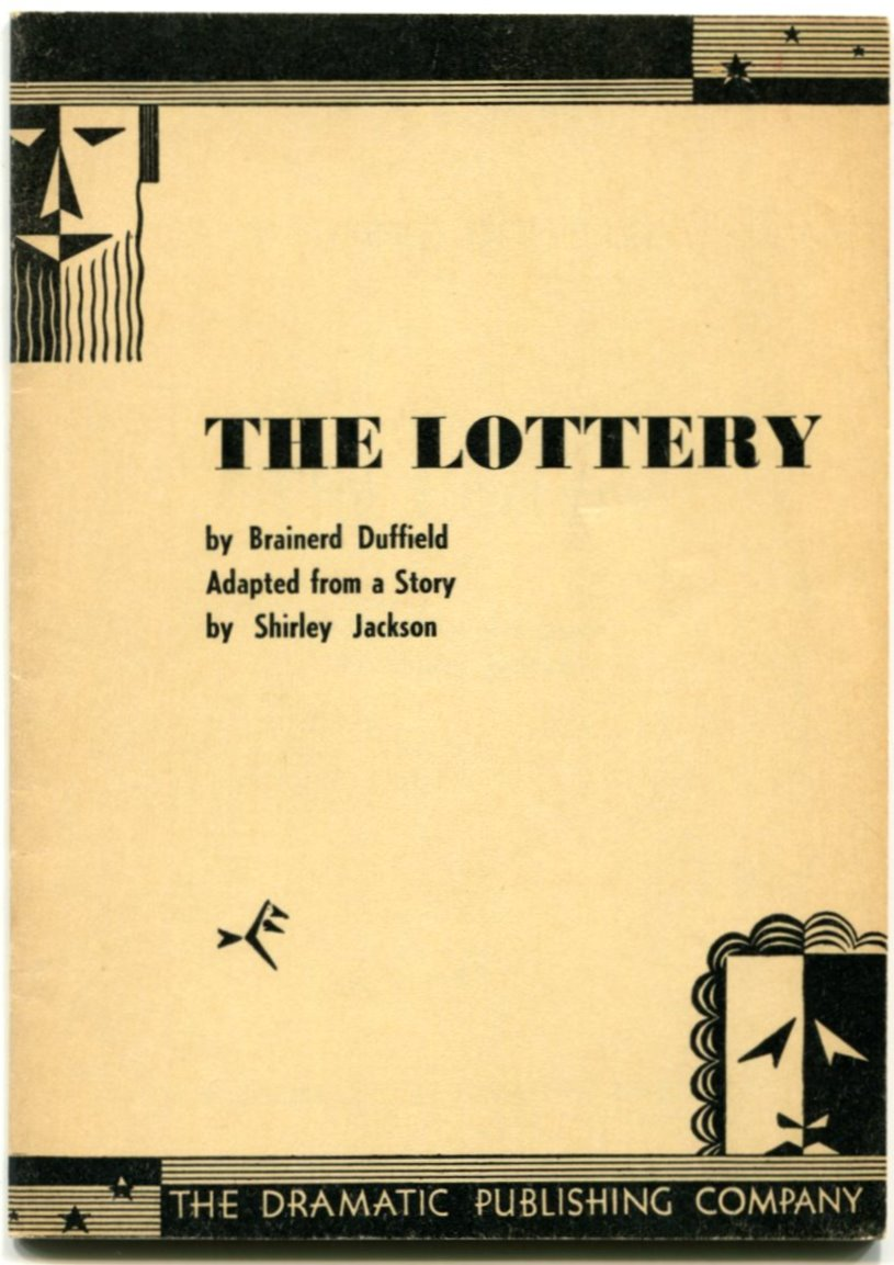 a report on the economics in the short story the lottery by shirley jackson The lottery is a short story by shirley jackson, written just months before its first publication, in the june 26, 1948 the story describes a fictional small town which.