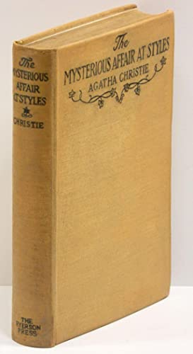 THE MYSTERIOUS AFFAIR AT STYLES.: Christie, Agatha.