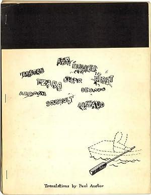 A LITTLE ANTHOLOGY OF SURREALIST POEMS.: Auster, Paul.