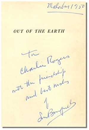 OUT OF THE EARTH.: Bromfield, Louis.