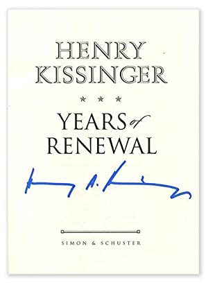 WHITE HOUSE YEARS, YEARS OF UPHEAVAL &: Kissinger, Henry