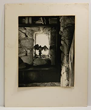 INTERIOR - ROBINSON JEFFERS' TOR HOUSE CARMEL; [Black-and-white photograph]
