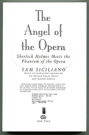 THE ANGEL OF THE OPERA.: Siciliano, Sam.