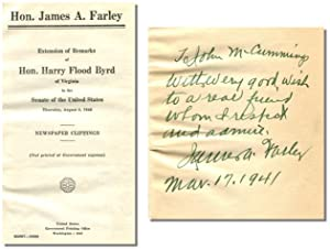 EXTENSION OF REMARKS OF HON. HARRY FLOOD BYRD OF VIRGINIA IN THE SENATE OF THE UNITED STATES: ...