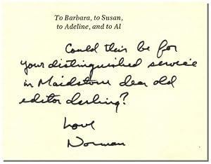 EXISTENTIAL ERRANDS.: Mailer, Norman.