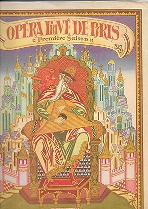 Programme de l'Opéra privé de Paris. Première: OPERA RUSSE]