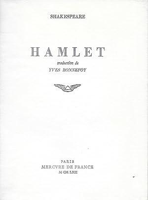 Hamlet.: BONNEFOY (Yves)] SHAKESPEARE