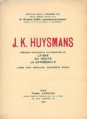 J.K. Huysmans. Précieux manuscrits autographes de Là-Bas,: HUYSMANS (J.K.)]
