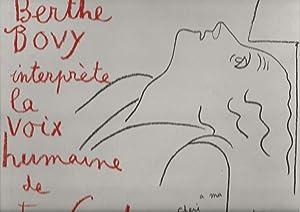 Berthe Bovy interprète La voix humaine de: COCTEAU (Jean)]