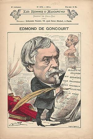 Edmond de Goncourt.: VERLAINE (Paul).