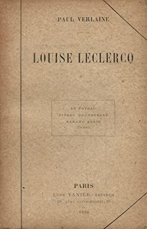 Louise Leclercq.: VERLAINE (Paul).