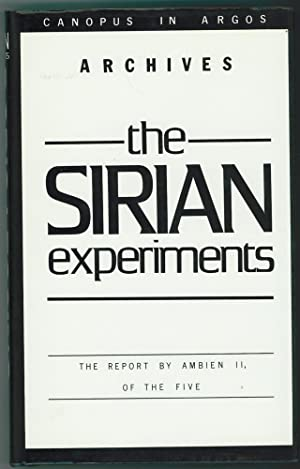 The Sirian Experiments The Report by Ambien II, of the Five