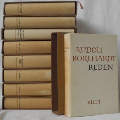Gesammelte Werke in Einzelbänden. Herausgegeben von Marie: Borchardt, Rudolf