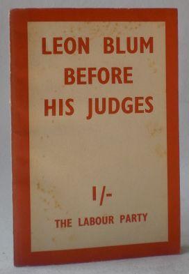 Leon Blum before his judges at the: Blum, Leon