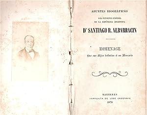 Apuntes biográficos / del Teniente Coronel /: ALBARRACÍN, Francisco: