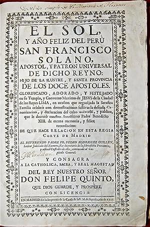 El Sol y Año feliz del Perú: RODRÍGUEZ GUILLÉN, Fr.