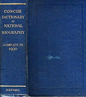 Concise Dictionary of National Biography Complete to 1930: Smith, George