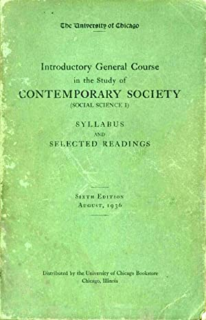INTRODUCTORY GENERAL COURSE IN THE STUDY OF CONTEMPORARY SOCIETY (SOCIAL SCIENCE I): SYLLABUS AND...