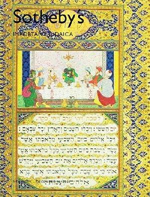 Important Judaica (19 Dec 2007): Sotheby's