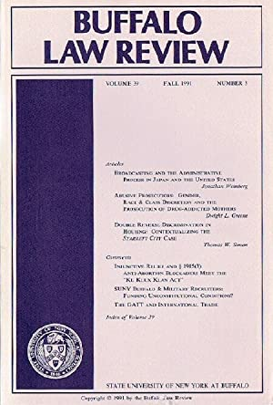 Buffalo Law Review (Volume 39, Number 3)
