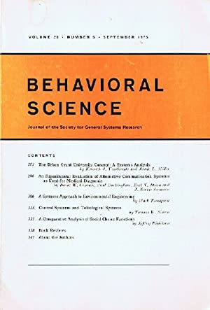 Behavioral Science (Volume 20, Number 5, September 1975)