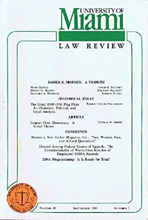 University of Miami Law Review (Volume 45, Number 1, September 1990)