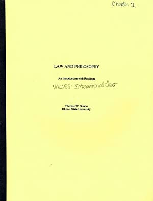 Law and Philosophy: Chapter 2: Values: International Law (Author's Bound Galley)