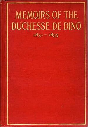 Memoirs of the Duchesse de Dino (Afterwards: Dino, Duchesse de