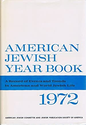 American Jewish Year Book (Vol. 73, 1972)