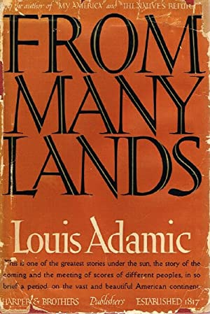 From Many Lands: Adamic, Louis