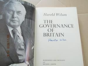 The Governance of Britain Signed First Edition: Harold Wilson